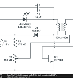 dimmable joule thief buck circuit with mosfet [ 1024 x 768 Pixel ]