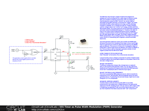 small resolution of 555 timer as pulse width modulation pwm generator public