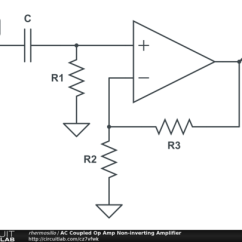 Circuit Diagram Of Non Inverting Amplifier Grundfos Pump Wiring Ac Coupled Op Amp Circuitlab Public