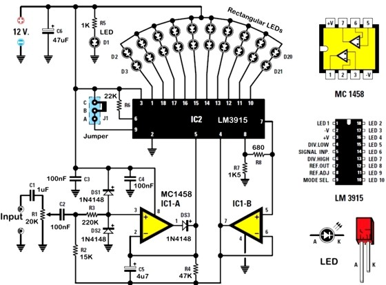 Lm3914 Circuit Schematics, Lm3914, Get Free Image About