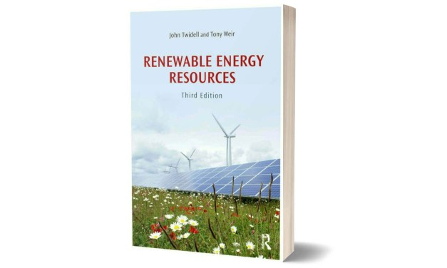 Renewable Energy Resources by John Twidell and Tony Weir