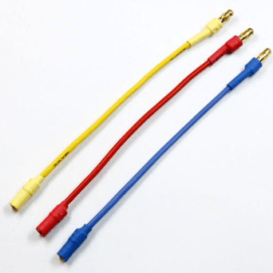 3 Pezzi Cable Banana extension 3.5MM red, yellow, blue 30CM