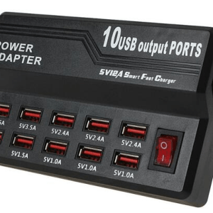 10-Port 5V 12A USB Quick Charger Smart Fast Charger