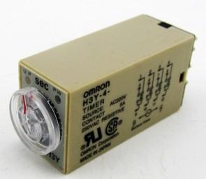 H3Y-4 24VDC 3A 250VAC Timer 60M OMRON super time Relè