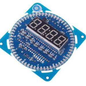 Fai da te DS1302 Kit orologio elettronico a rotazione LED 51 SCM Learning Board