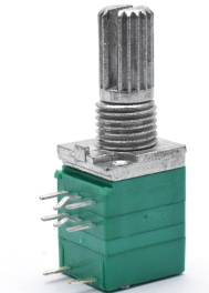2 Pezzi RV097GS 6Pins Potenziometro doppio B50K con interruttore
