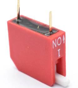 Interruttore a levetta a quadrante da 2 pezzi da 2,54 mm a 2 vie