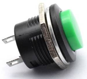 3 pezzi R13-507 / 16mm Botton Green / Green 16mm Self Lock Switch
