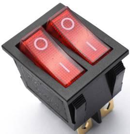 KCD3 Interruttore rotondo / Interruttore I / O / 4 pin 2 Posizioni 15A Interruttore 250V