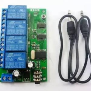 Relè di decodifica audio DTMF a 4 canali 12V / controller Smart Home / modulo di controllo remoto