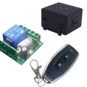 DC12V Ricevitore relè codice apprendimento 1 canale + trasmettitore telecomando wireless professionale 433MHz