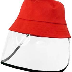Cappello da pescatore rimovibile antischiuma ROSSO BAMBINO