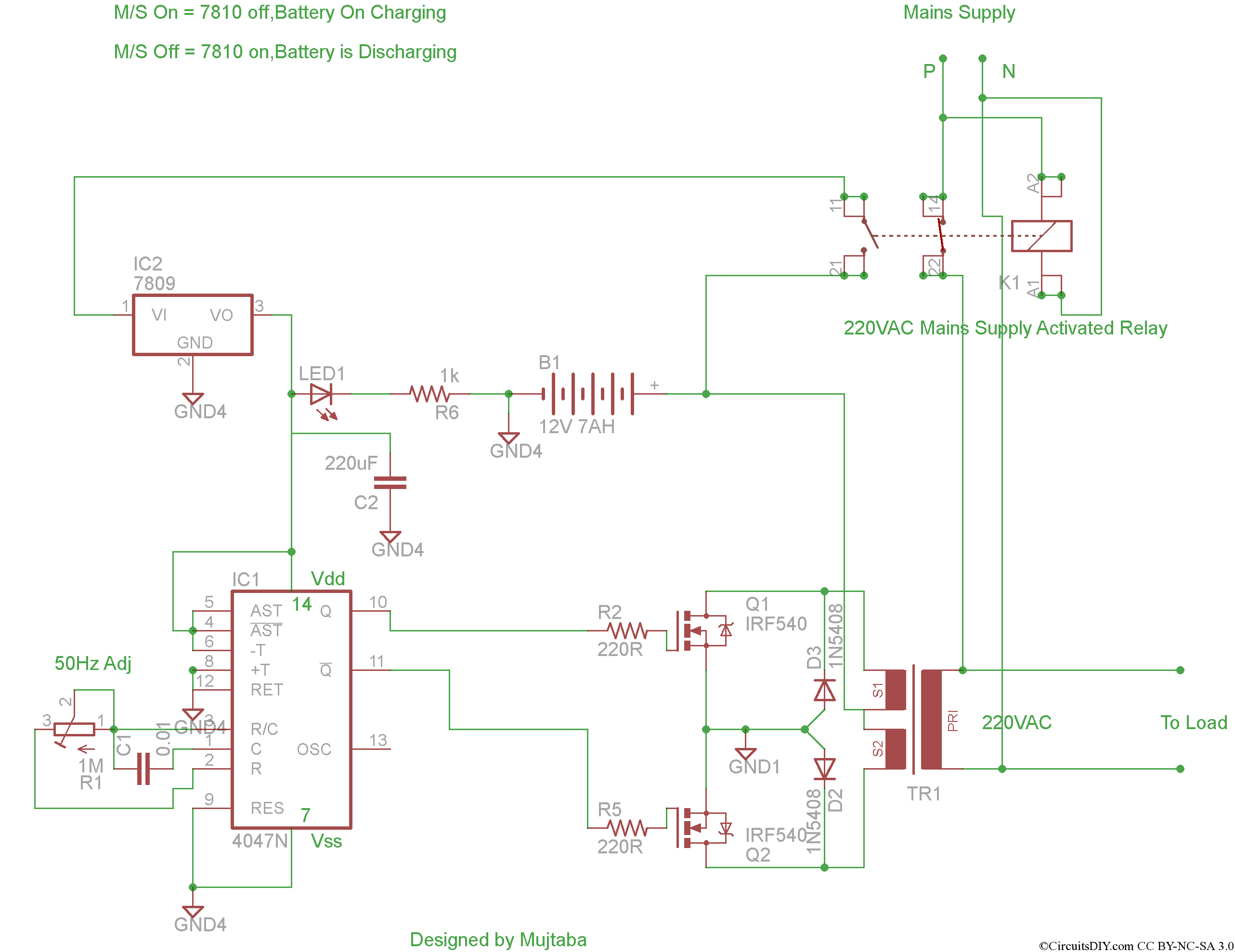 dld mini projects circuit diagram pin 7 arduino a complete inverter project circuits diy