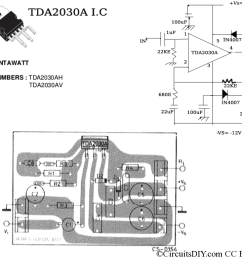 tda2030a amplifier circuit [ 1024 x 768 Pixel ]
