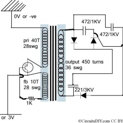 Electric Fence Circuit Diagram Diy Basic Switch Wiring Miniature Used In Mosquito Racket