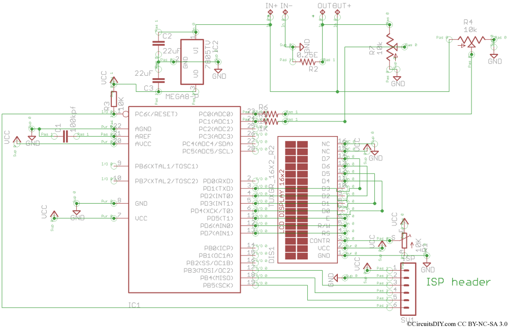medium resolution of atmega8 based voltmeter ampmeter v2