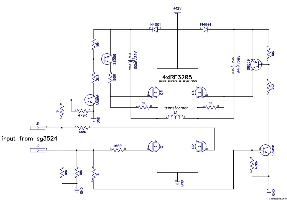 medium resolution of h bridge inverter power stage with passives circuits diy have a simple hbridge circuit set up following this schematic