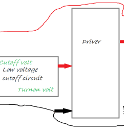 low voltage cutoff circuit for inverters circuits diy installation diagram for use as a lowvoltage batery cuttout [ 1579 x 682 Pixel ]