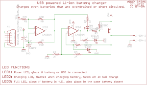 USB liion charger – Circuits DIY