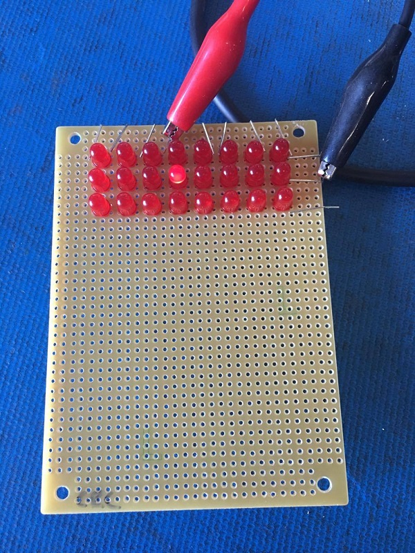 Check led matrix