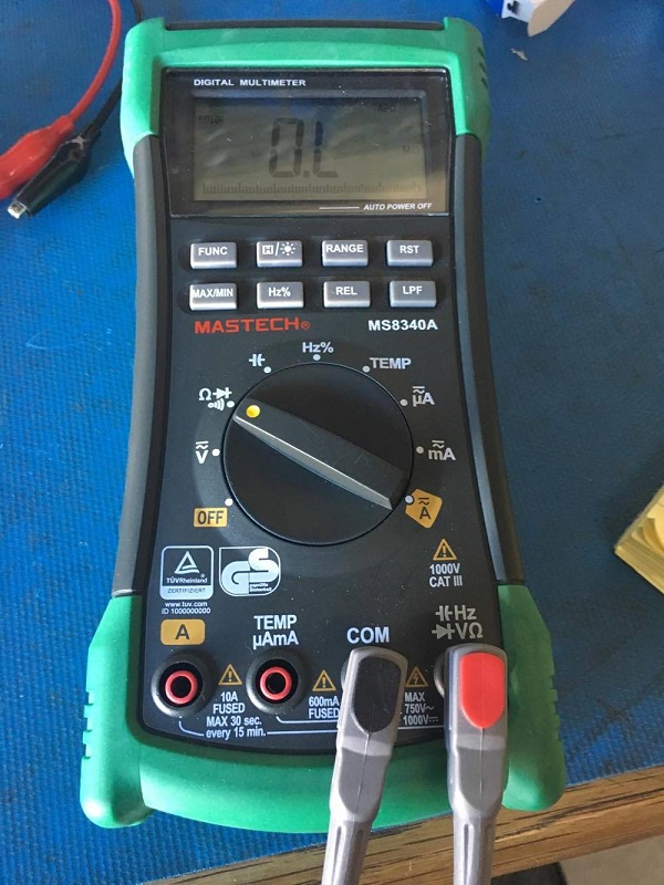 Multimeter Continuity Mode