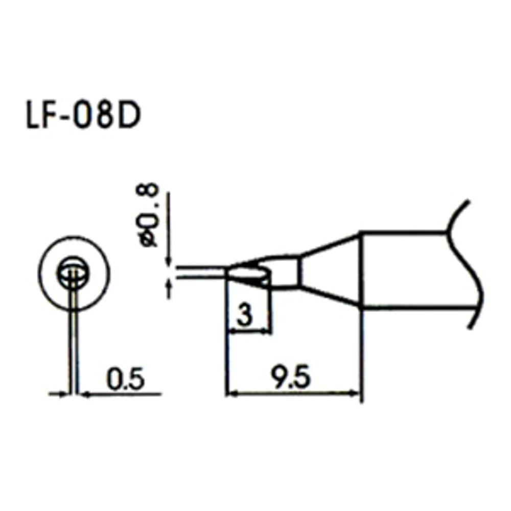 0.8mm Bevel Type Lead-Free Solder Tip/Element LF-08D