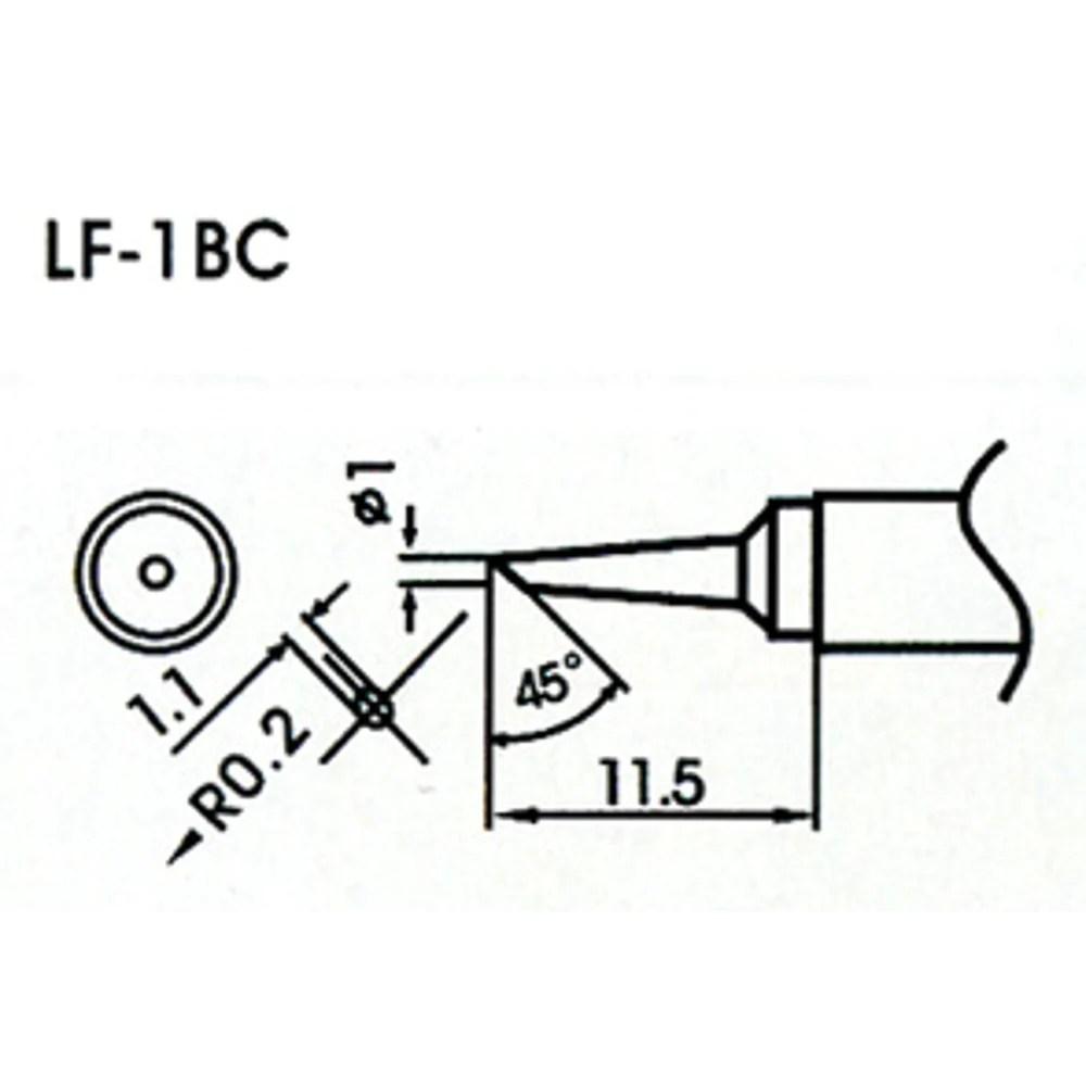 1mm Chisel Type Lead-Free Solder Tip/Element LF-1BC