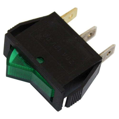 small resolution of spst on off green illuminated rocker switch lighted switch wiring illuminated switch wiring