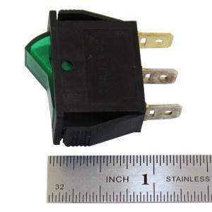 SPST ONOFF Green Illuminated Rocker Switch