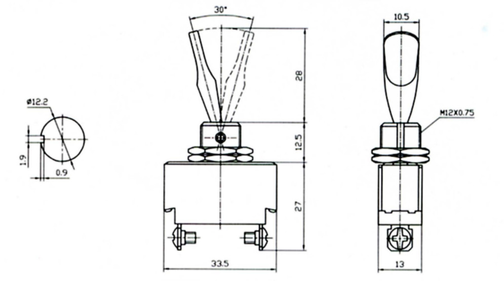 SPST ON/OFF Heavy Duty Toggle Switch
