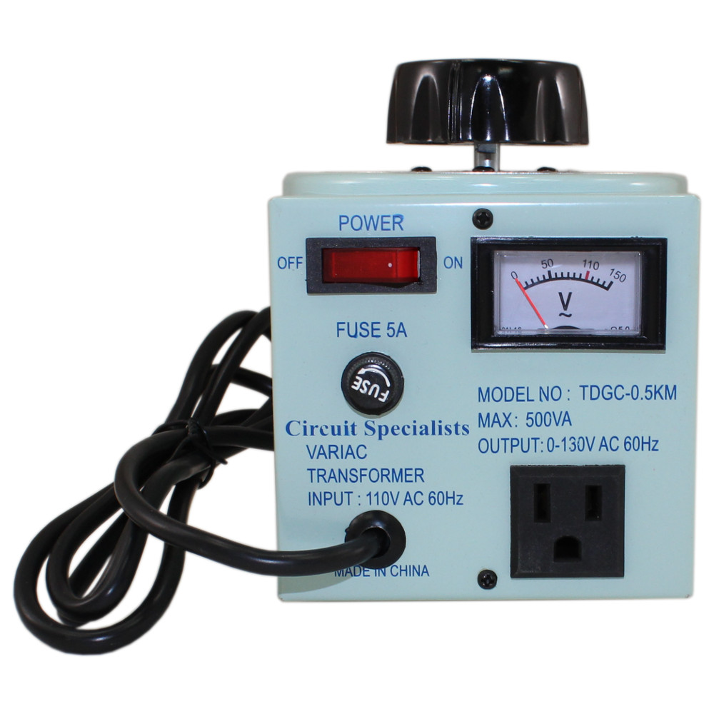 hight resolution of variable output autotransformer with 5 amp max output