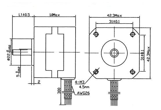 24 Volt Ac Wiring Diagram Nema 17 Stepper Motor 2 4 Kg Cm 4 Wire 42bygh011
