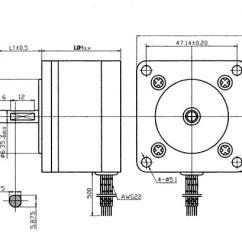 24 Volt Wiring Diagram Pioneer Deh 2700 Nema 23 Step Motor | 7.6 Kg-cm 6 Wire 57byg081