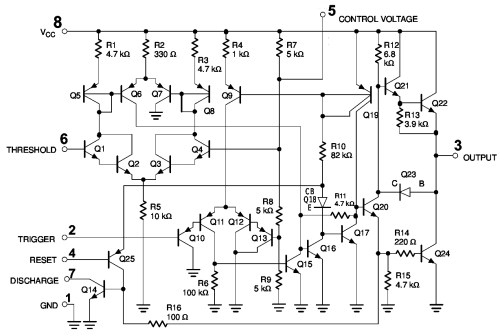 small resolution of internal circuit diagram of 555 timer