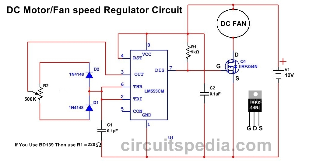 Digital Fan Regulator Circuit Diagram