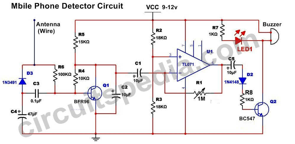 rf signal detector circuit index listing of wiring diagrams