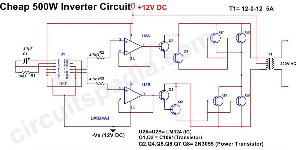 medium resolution of 500w mosfet power inverter from 12v to 110v 220v circuit diagram circuit diagram 500w inverter wiring