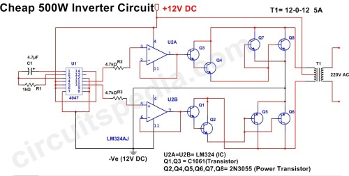 small resolution of 500w mosfet power inverter from 12v to 110v 220v circuit diagram circuit diagram 500w inverter wiring