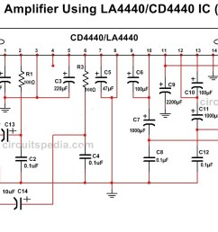 la4440 cd4440 stereo audio amplifier circuit diagram [ 1169 x 686 Pixel ]
