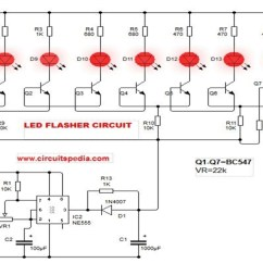 How To Draw A Circuit Diagram 02 Sv650 Wiring Led Flasher With 555 Make Blinking