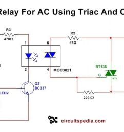 solid state relay circuit diagram solid state relay circuit using triac schematic [ 1280 x 720 Pixel ]