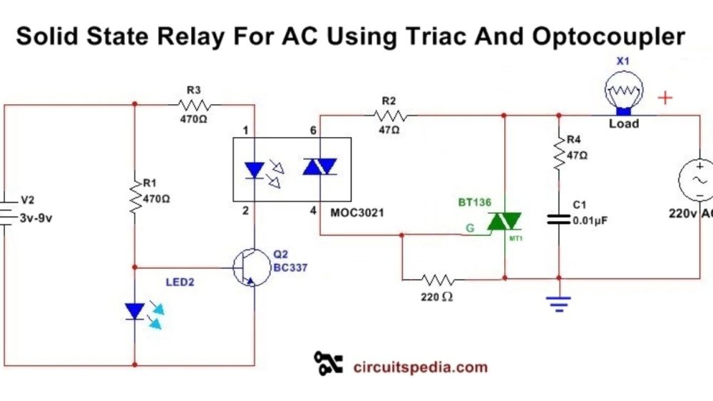 medium resolution of solid state relay circuit diagram solid state relay circuit using triac schematic