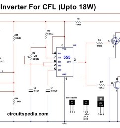 12v cfl inverter circuit simple cfl inverter circuit diagram black light inverter1 circuit schematic [ 1294 x 681 Pixel ]
