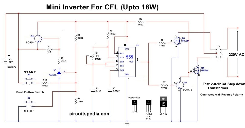 medium resolution of 12v cfl inverter circuit simple cfl inverter circuit diagram black light inverter1 circuit schematic