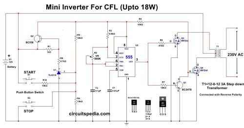 small resolution of 12v cfl inverter circuit simple cfl inverter circuit diagram black light inverter1 circuit schematic