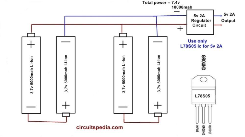 medium resolution of homemade 10000mah power bank circuit diagram using li ion aa battery mobile charging power bank circuit diagram mobile power bank circuit diagram