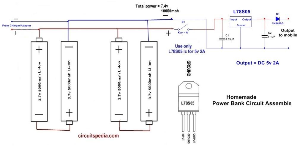 medium resolution of homemade 10000mah power bank circuit diagram using li ion aa battery mobile power bank circuit diagram mobile power bank circuit diagram