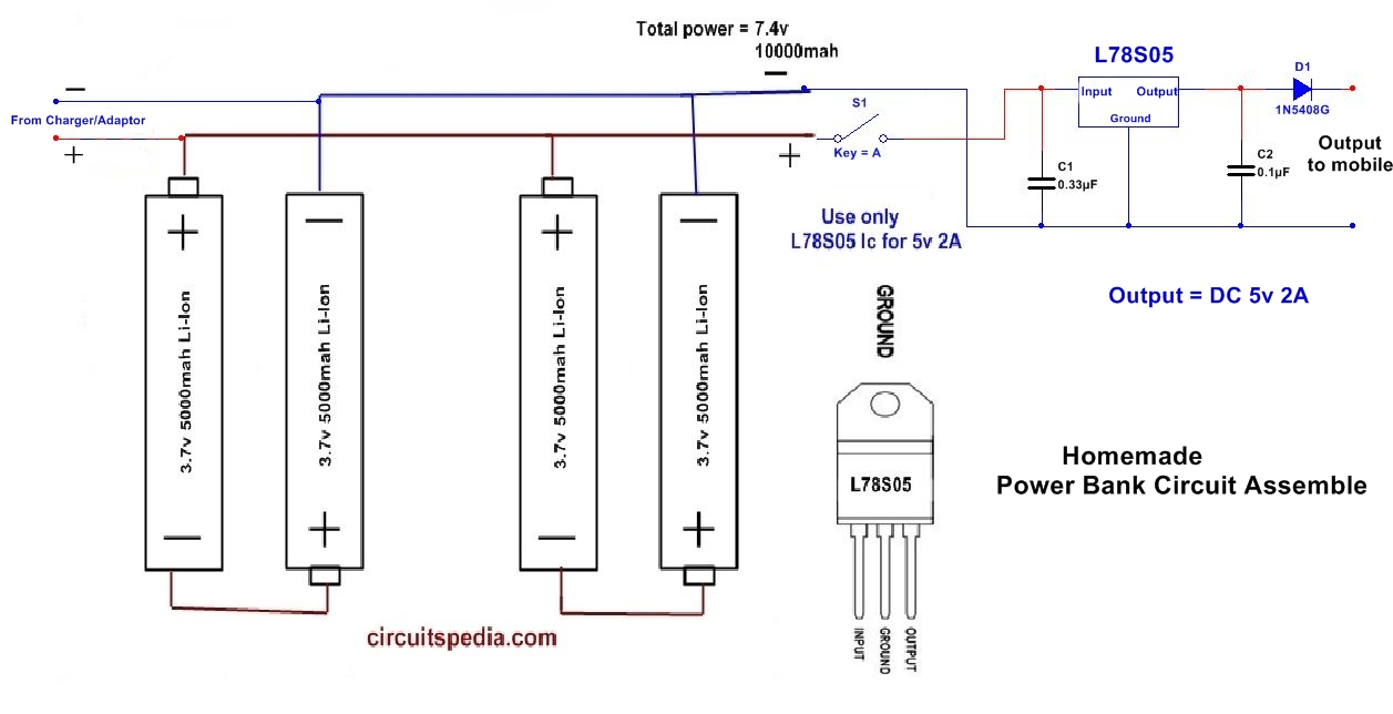hight resolution of how to make power bank circuit