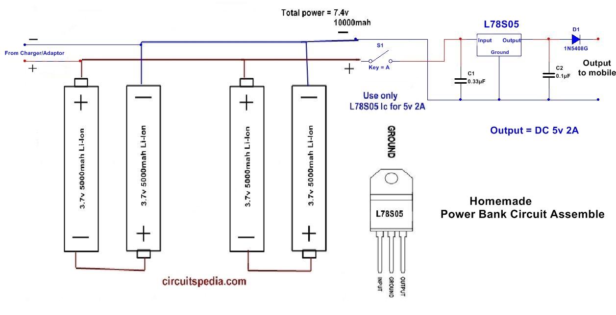 hight resolution of homemade 10000mah power bank circuit diagram using li ion aa battery mobile power bank circuit diagram mobile power bank circuit diagram