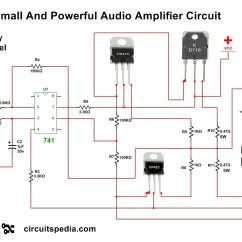 Audio Amplifier Circuit Diagram With Layout Wiring For A 3 Way Switch 4558 Ic Power
